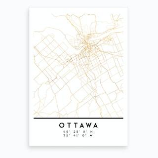Ottawa Canada City Street Map Art Print
