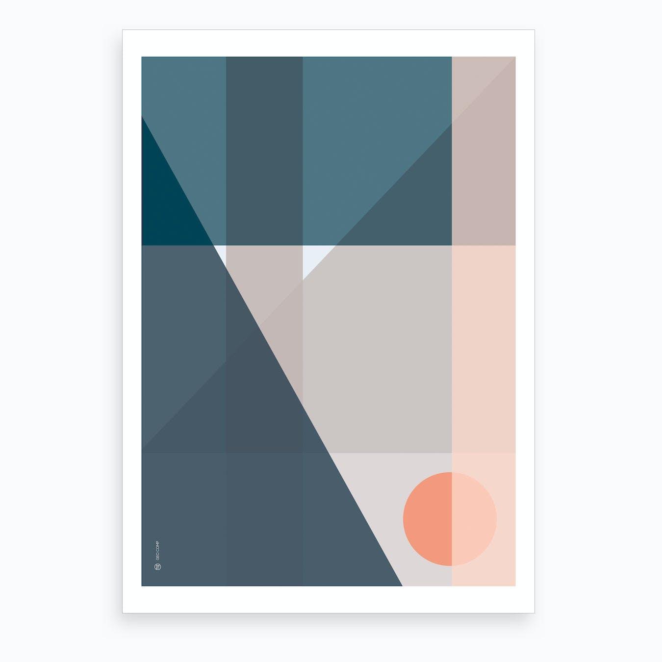 Geo Comp 04 Art Print