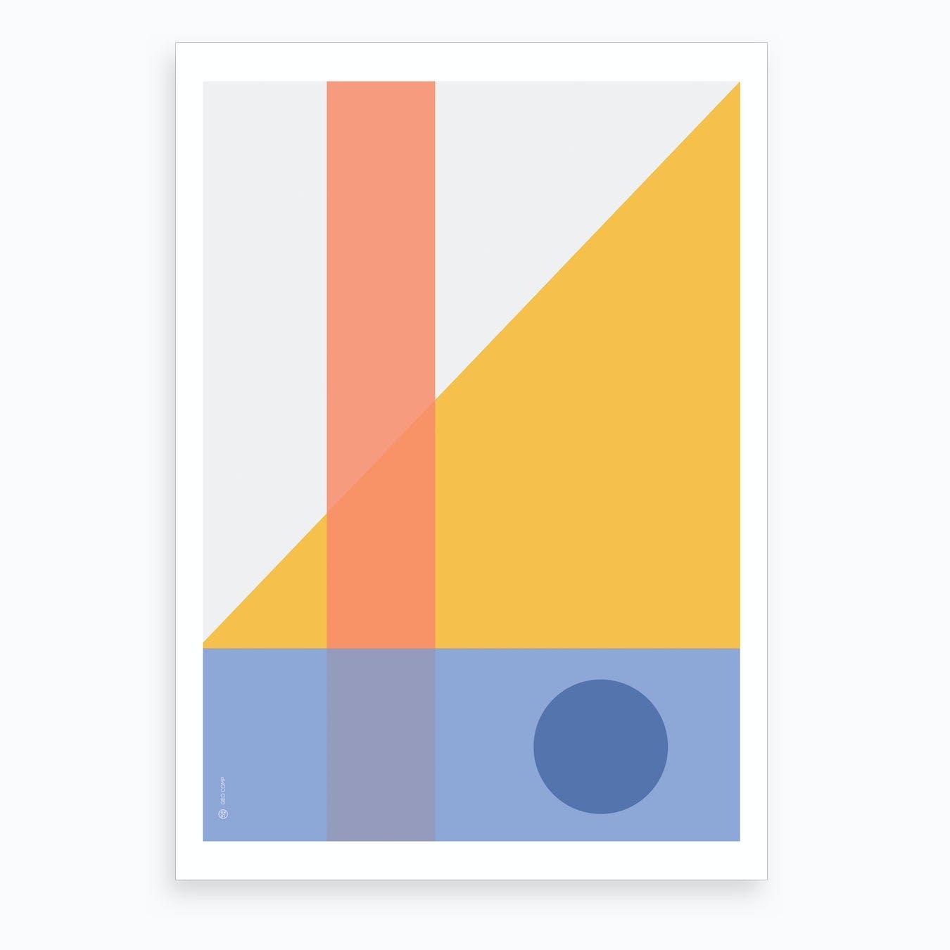Geo Comp 01 Art Print