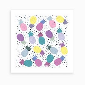 Purple Pineapples Art Print