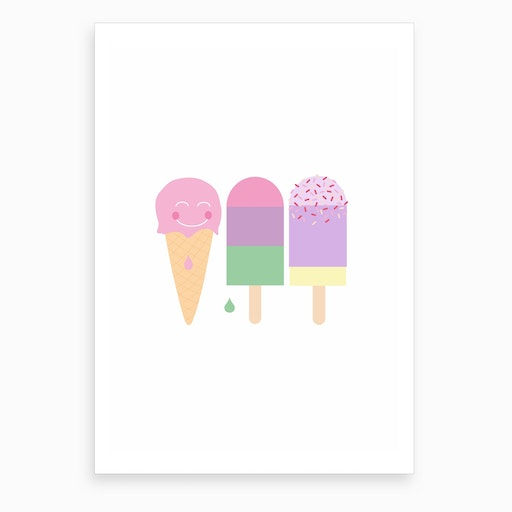 Popsicle Party Art Print