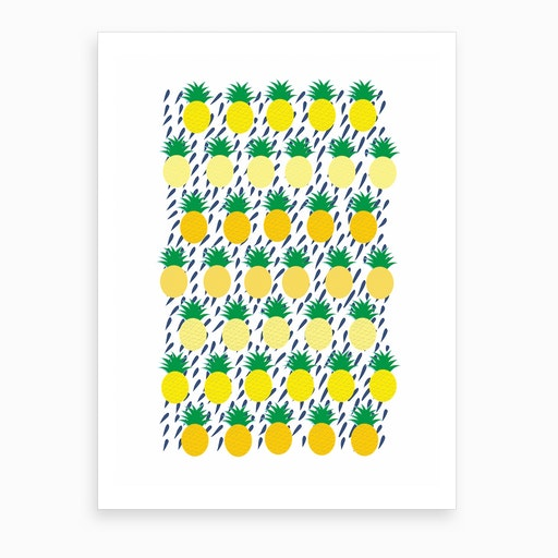 Where the Pineapples Grow Art Print