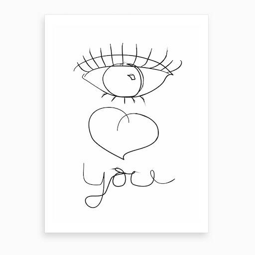 I Love You XX Art Print