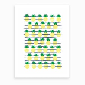 Land of Pineapples Art Print