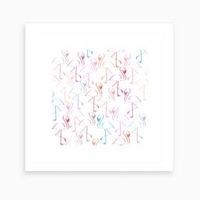 Pretty Flamingos Art Print