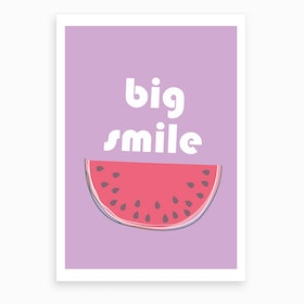 Big Watermelon Smile Art Print