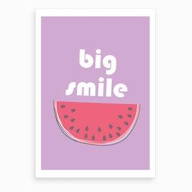 Big Watermelon Smile Art Print
