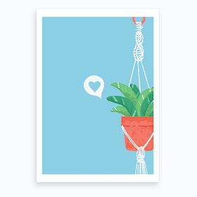 Macrame Plant #3 Art Print
