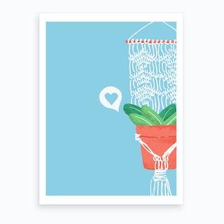 Macrame Plant #2 Art Print