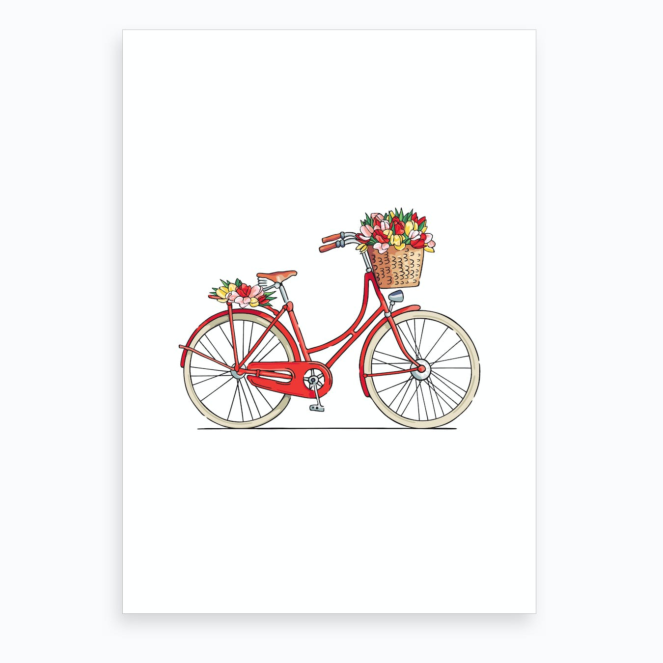 Flower Bike Art Print