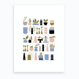 Scandi Shelfie Art Print