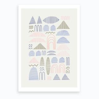 Line Geometry Art Print