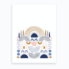 Nordic Rainbows Art Print