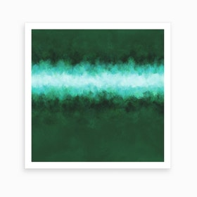 Green Forest Abstract Art Print