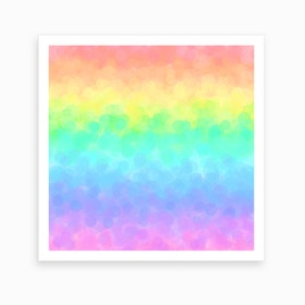 Soft Rainbow Dream Art Print