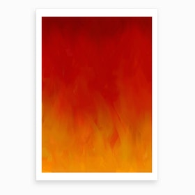 Golden Flames Art Print