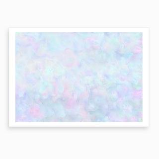 Rainbow Unicorn Pastel Fluffiness Art Print