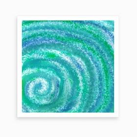 Swirling Ocean Waters Art Print