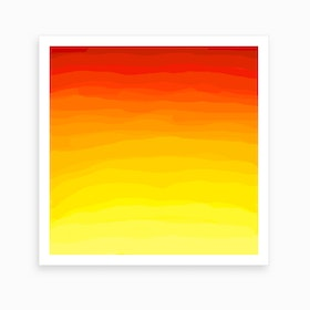 Red and Yellow Sunset Art Print