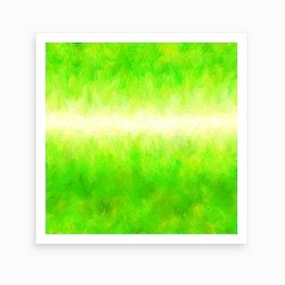 Neon Lemon Lime Art Print