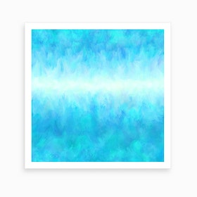 Cystal Clear Blue Art Print