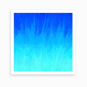 Icy Blue Blast Art Print