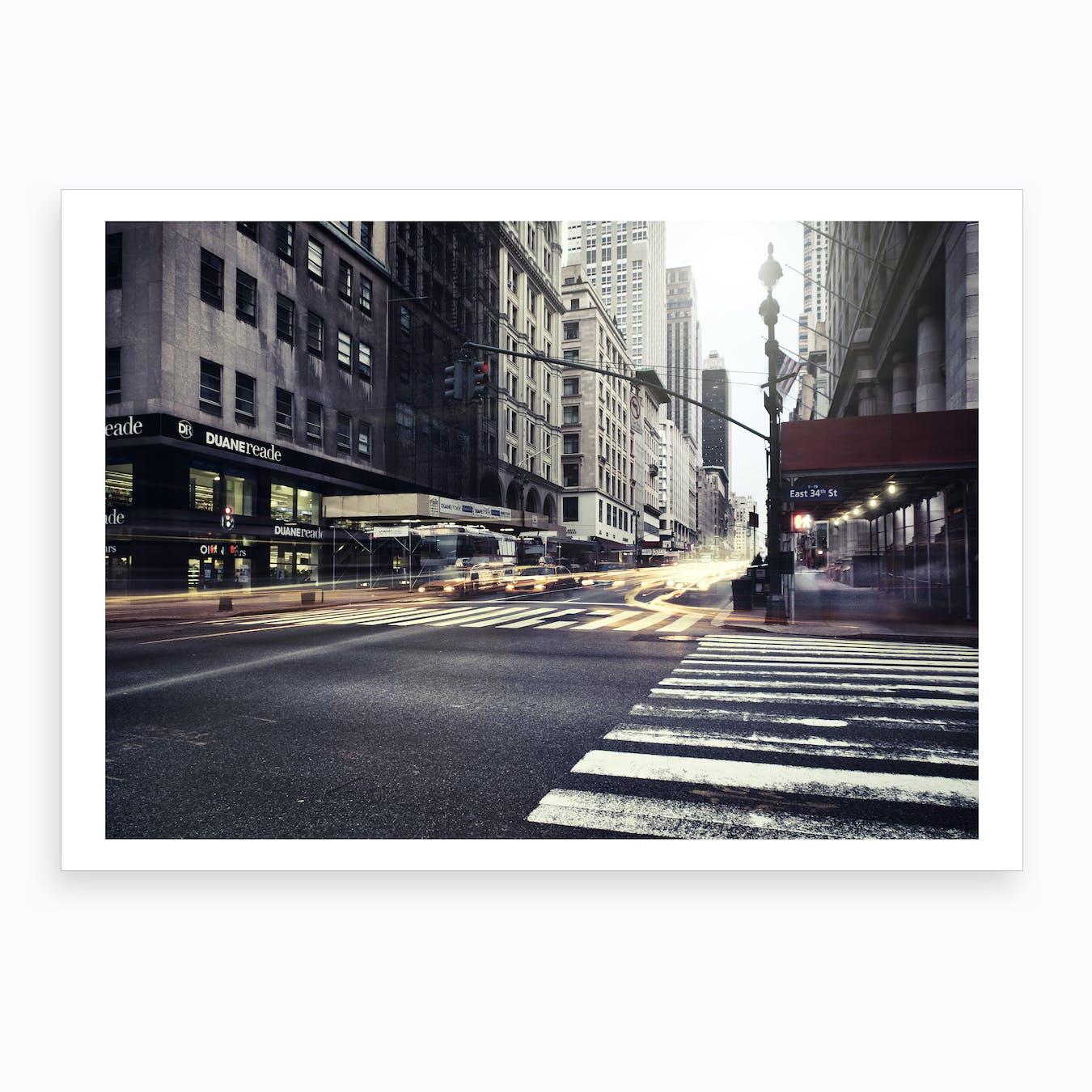 Turn Left for East Art Print