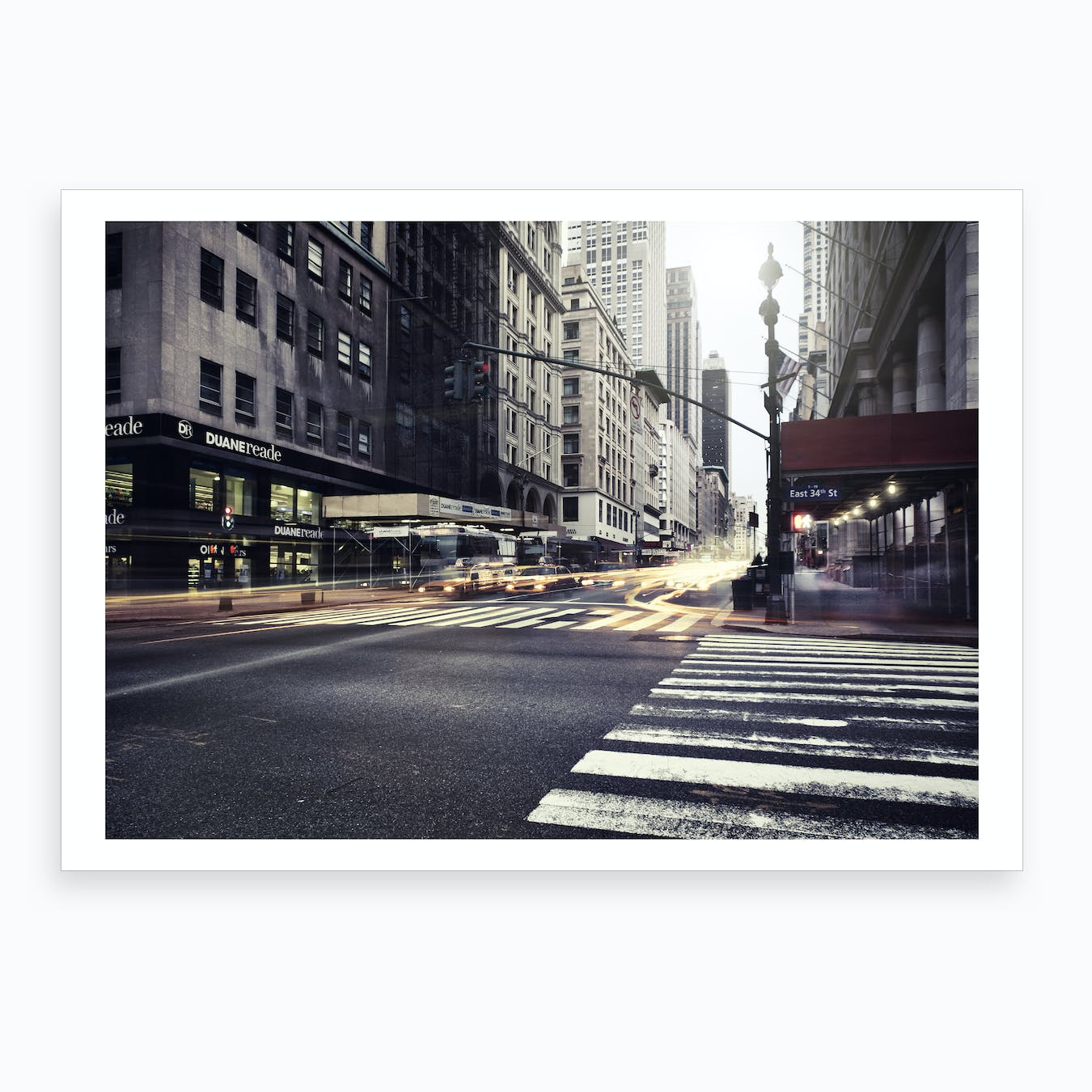 Turn Left for East Art Print