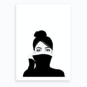 Girl in Turtleneck Art Print