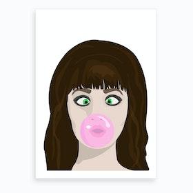 Blow gum Art Print