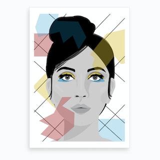 Colour on my Face Art Print