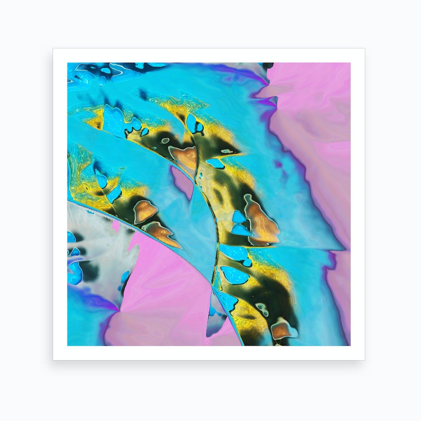 Pastel Gold Drip Art Print