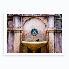 San Juan Fountain Art Print