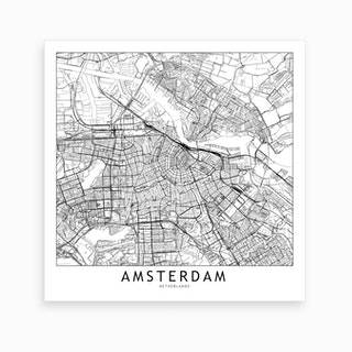 Amsterdam Map Art Print I