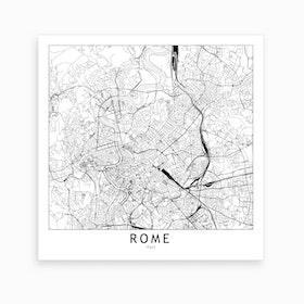 Rome Map Art Print I