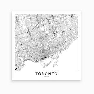 Toronto Map Art Print