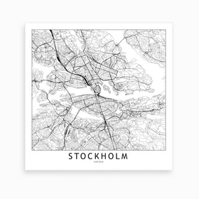 Stockholm Map Art Print I