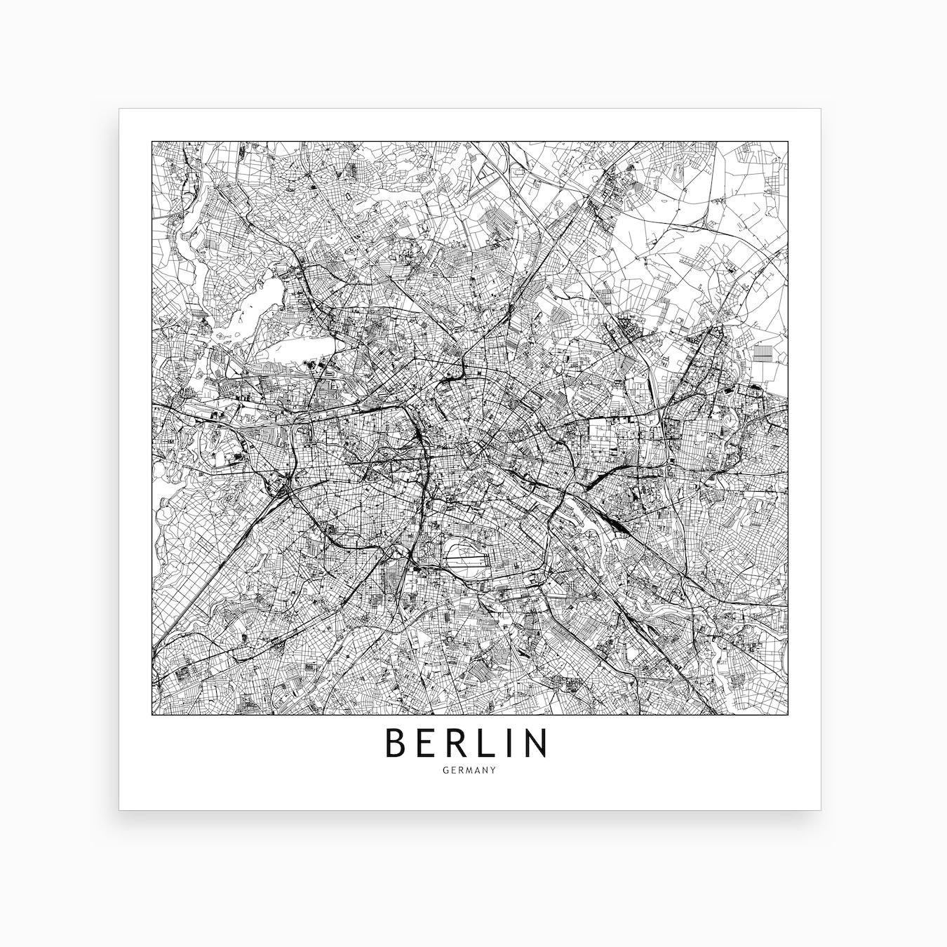 Berlin Map Art Print I