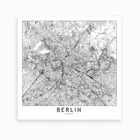 Berlin Map Art Print I