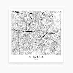 Munich Map Art Print I