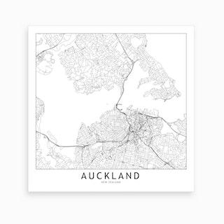 Auckland Map Art Print