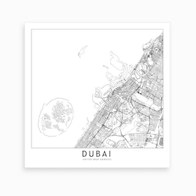 Dubai Map Art Print