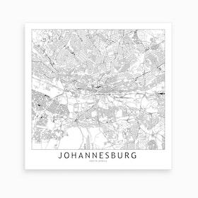 Johannesburg Map Art Print