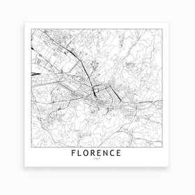 Florence Map Art Print