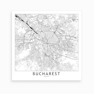 Bucharest Map Art Print