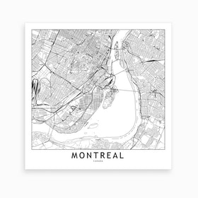 Montreal Map Art Print