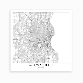 Milwaukee Map Art Print