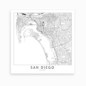 San Diego Map Art Print