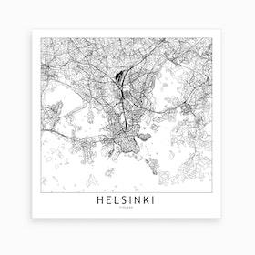 Helsinki Map Art Print
