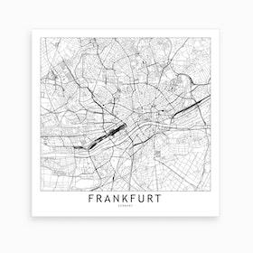 Frankfurt Map Art Print